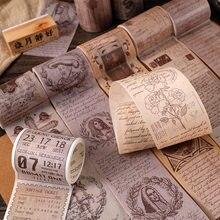 Cinta Washi Vintage europea, 5cm X 3m, decoración artesanal, planificador de colección de recortes, cinta adhesiva, pegatinas Retro, papelería