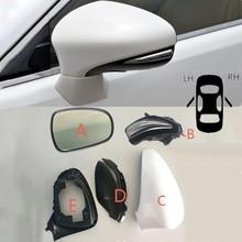 Car Rearview Mirror Cover Side Mirror Frame lights Mirror Glass Lens For Lexus ES200 ES250 ES300H ES350 CT200H