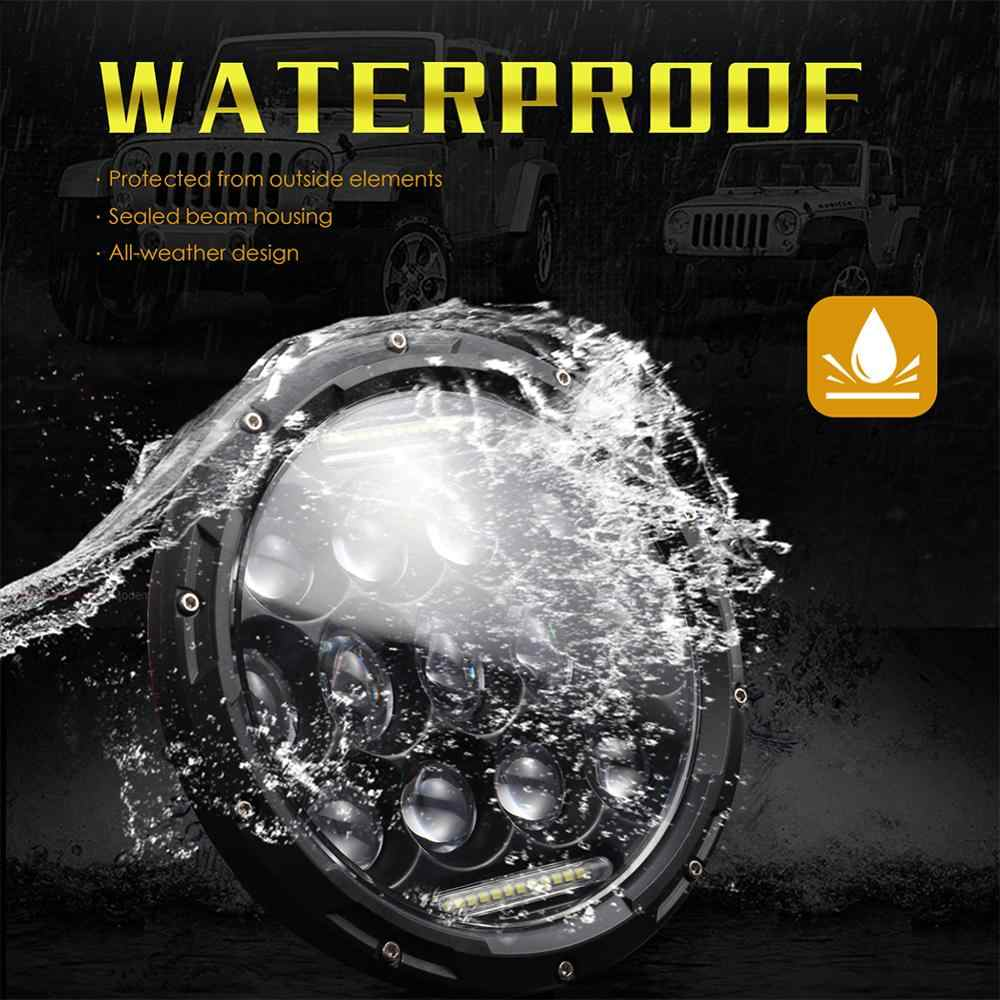High Powered Led Headlight H4/H13 7 Inch 300W Round LED Headlights Turn Signal Light White DRL for Auto Car