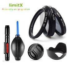 37 millimetri kit Filtro CPL ND UV Lens hood Cap penna di Pulizia Ventilatore per Olympus OMD EM10 OM D E M10 E M5 mark II III IV w/ 14 42mm lens