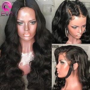 Image 4 - Eva koronkowa fala peruka Front 13x6 koronki przodu włosów ludzkich peruk wstępnie oskubane 5x5 HD zamknięcie koronki peruka brazylijski fałszywe skóry głowy ludzki włos peruka Remy