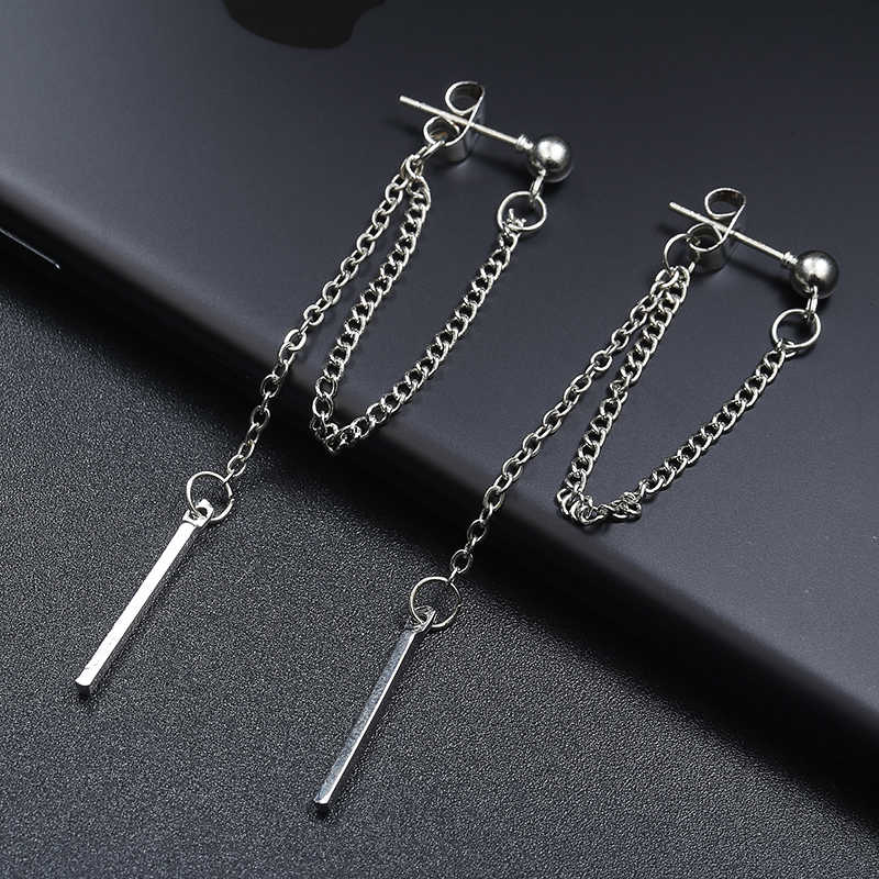 Korean Of Jewelry Earrings Tassel Fashion Retro Long Earrings Chain Metal Texture Earrings Wholesale Drop Dangle Earrings