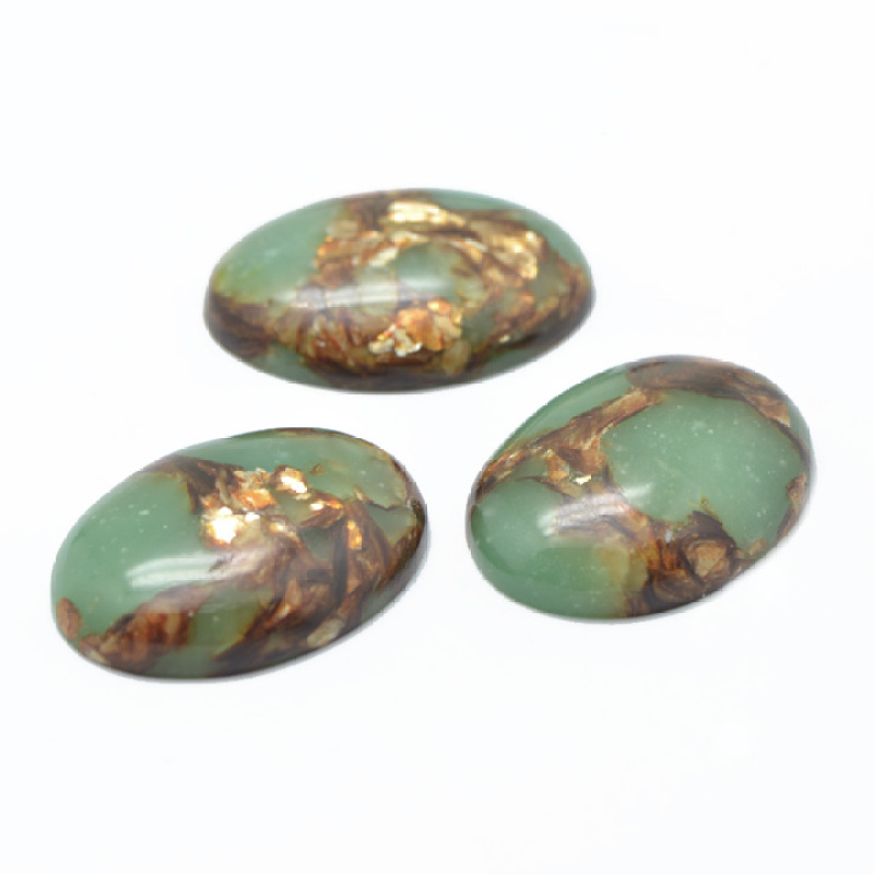40x30MM Oval Cabochon Bornite Copper Stone in Turquoise Regalite Gemstone Cab Gemstone and Stone Cabochons DS60