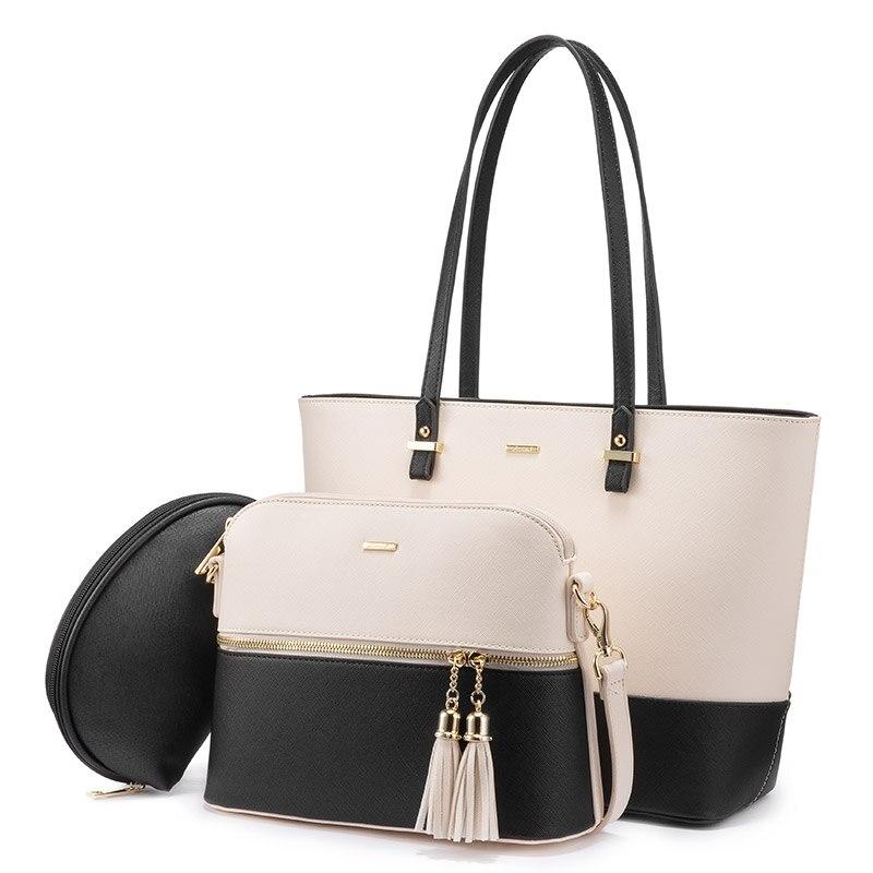 LOVEVOOK Women Shoulder Bags Crossbody Bags For Ladies Large Tote Bag Set 3 Pcs Clutch And Purse Luxury Handbag Women Designer