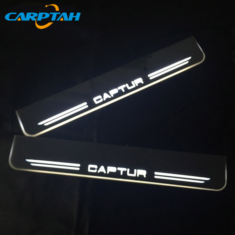 CARPTAH Trim Pedal Car Exterior Parts <font><b>LED</b></font> Door Sill Scuff Plate Pathway Dynamic Streamer light For <font><b>Renault</b></font> <font><b>Captur</b></font> 2016 2017 2018 image