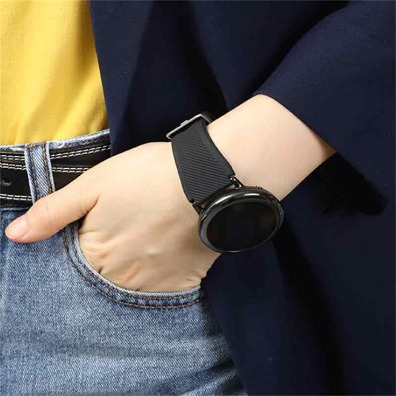 20mm שעון רצועת עבור samsung galaxy watch 46mm פעיל 2 42mm amazfit ביפ רצועת הילוך s3 frontier huawei watch gt 2 רצועת 22 mm 44