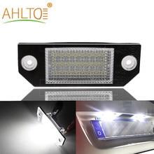 1Pcs Auto Kentekenplaatverlichting 12V Led Nummer Lampen Lezen Plaat Licht Achterlicht Voor 03-18 ford Focus C-MAX 03-08 MK2 Auto-onderdelen
