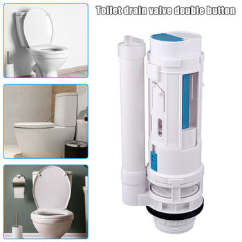 Water Saving Toilet Drain Button Water Tank Connected Flush Toilet Cistern Inlet Drain Button Repair Parts Home Bathroom Tools universal flush toilet cistern tank single push button flush 38mm mounting hole