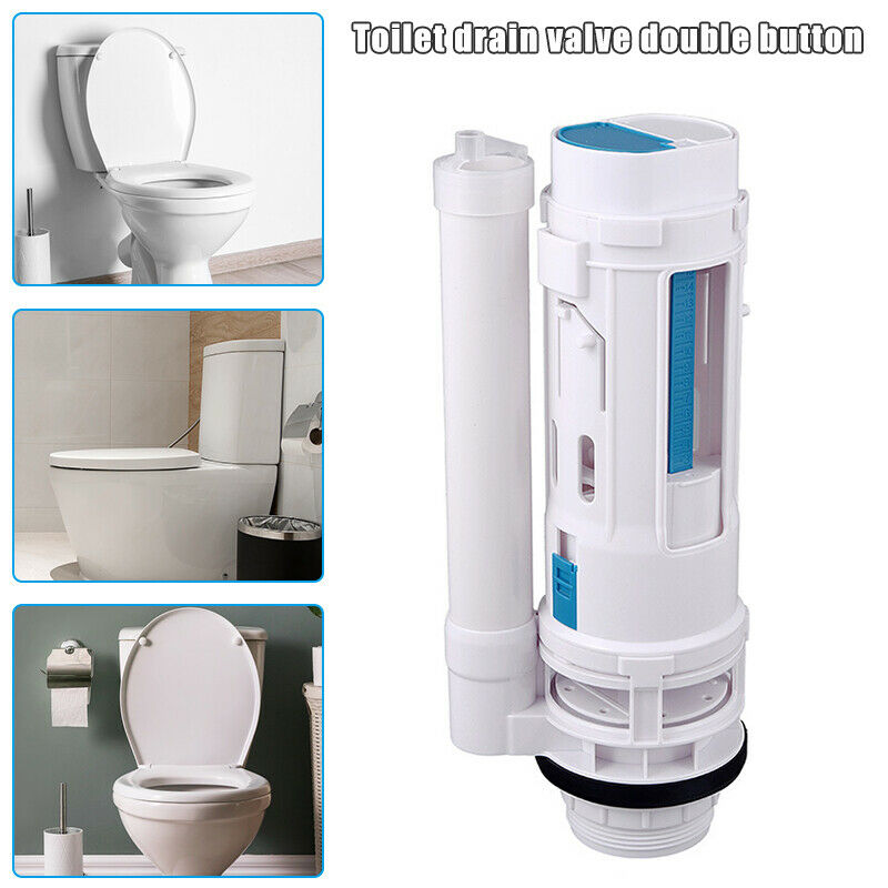 Water Saving Toilet Drain Button Water Tank Connected Flush Toilet Cistern Inlet Drain Button Repair Parts Home Bathroom Tools image