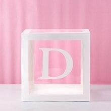 1 шт прозрачная квадратная картонная коробка шар коробка для ребенка крещение для душа День Рождения Декор I88#1