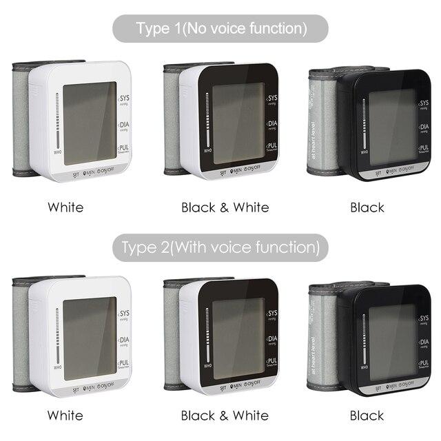 Portable Tonometer Wrist Type Electronic Blood Pressure Monitor Sphygmomanometer Blood Presure Meter Monitor Heart Rate Pulse