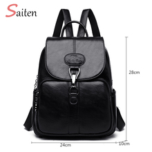 цена на Brand New Laptop Backpack Women Leather Luxury Backpacks Women Fashion Backpack Satchel School Bag Pu Backpack Shoulder Bags