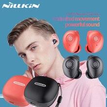 NILLKIN auriculares intrauditivos TWS inalámbricos con Bluetooth 5,0, IPX5, deportivos, estéreo, estuche de carga para 5 horas de reproducción