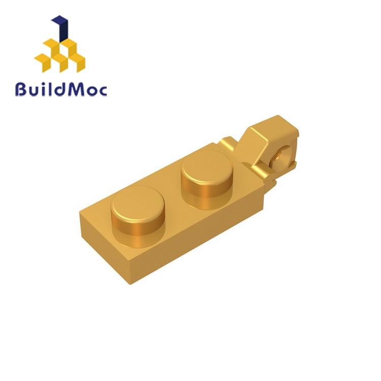 BuildMOC Compatible Assembles Particles 44301 Hinge Plate 1 X 2 For Building Blocks Parts DIY LOGO Educational Gift Toys