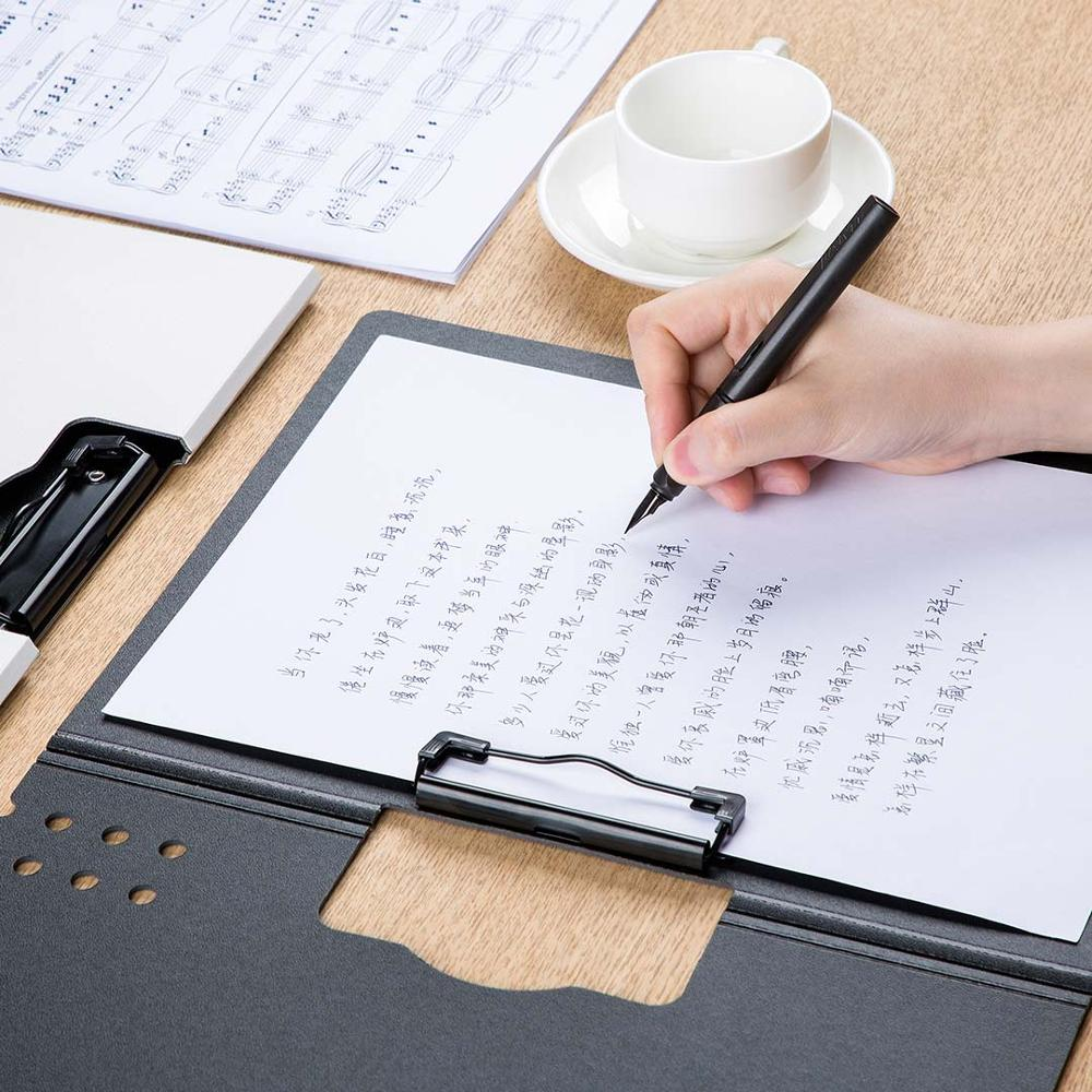 lowest price New Youpin Fizz Horizontal A4 Folder Matte Texture Portable Pad Portable Pen Tray Thicken Briefcase School Office Supplies
