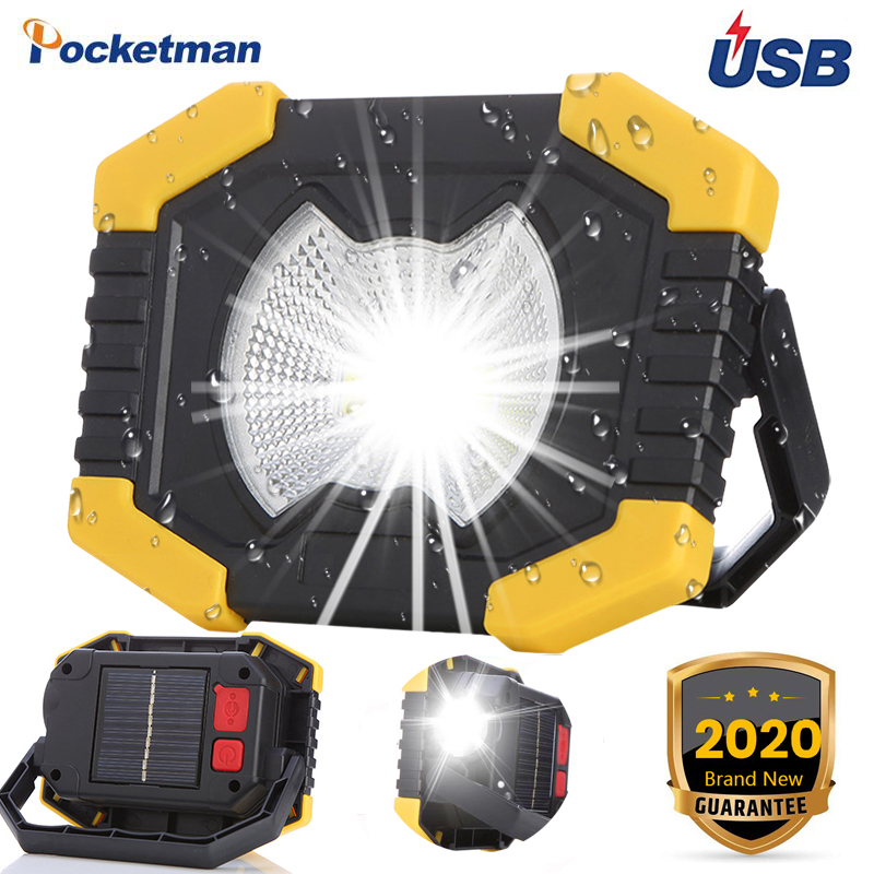 100W Led Work Light 180 Degrees Adjustable Lanterns With Built-in Battery Spotlight Rechargeable For Outdoor Camping Lamp Torch