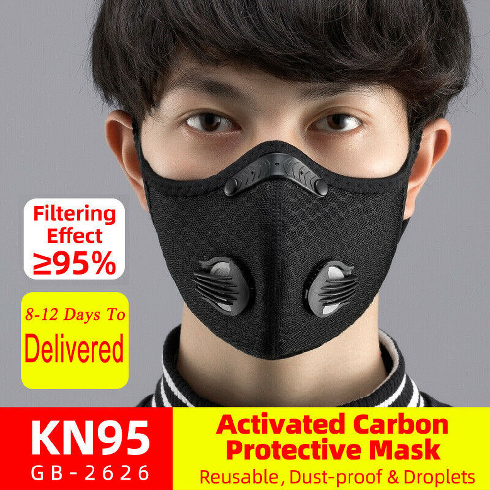KN95 Anti-pollution Dust Mask With Filter Reusable Anti-flu Mask Unisex Mouth Muffle For Allergy Asthma Travel