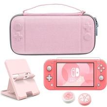 Zestaw worek do przechowywania Nintendo Switch Lite sztywne etui podróżne różowy stojak uchwyt do przełącznika Nintendo/NS Lite akcesoria ochronne