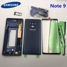 Полный Корпус чехол задняя крышка + передний экран стеклянный объектив + средняя рамка для Samsung Galaxy Note 9 N960 N960F N960FD полные части