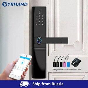 Image 1 - Keyless serrure intelligente à empreintes digitales, serrure de porte électronique et biométrique intelligente
