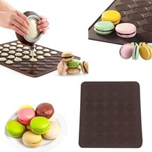 Professional Large 30 Macarons/Muffins Silicone Baking Pastry Sheet Mat Cup Cake Mold Tray Baking pastry Mould Sheet Mat
