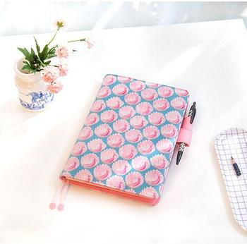 A5 A6 Cool Pink Bird Journal Undated DIY Monthly Weekly Daily Planner 207P Japanese Fashion Diary Gift image