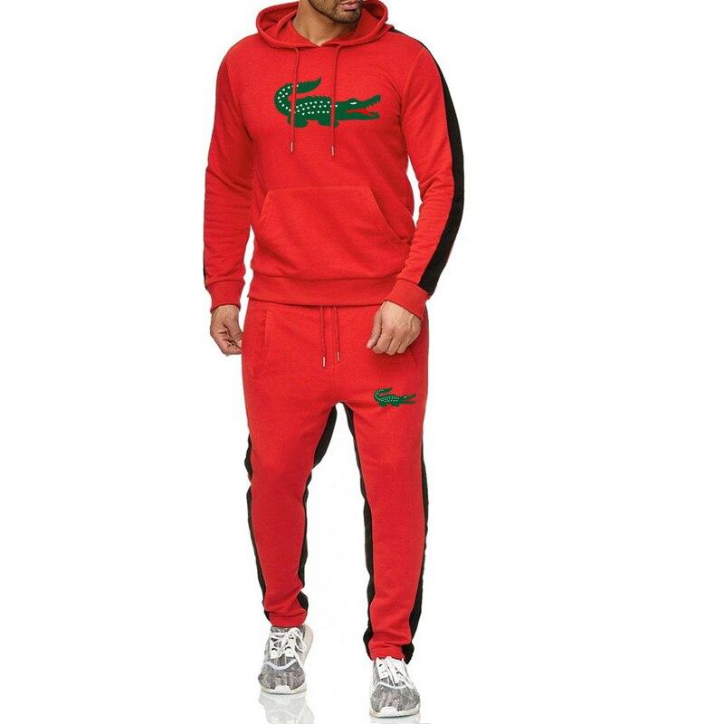 2019 пародия Забавный бренд мужские толстовки с крокодиловым принтом толстовки зимние уличные тренды sudaderas hombre спортивные комплекты для бега Топы + штаны