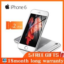 Отремонтированный Смартфон Apple iPhone 6, 1 ГБ ОЗУ, 16 Гб ПЗУ, 4,7 МП, LTE камера, отпечаток пальца, разблокирован, дюймов, мобильный телефон, Wi-Fi, gps, 4G