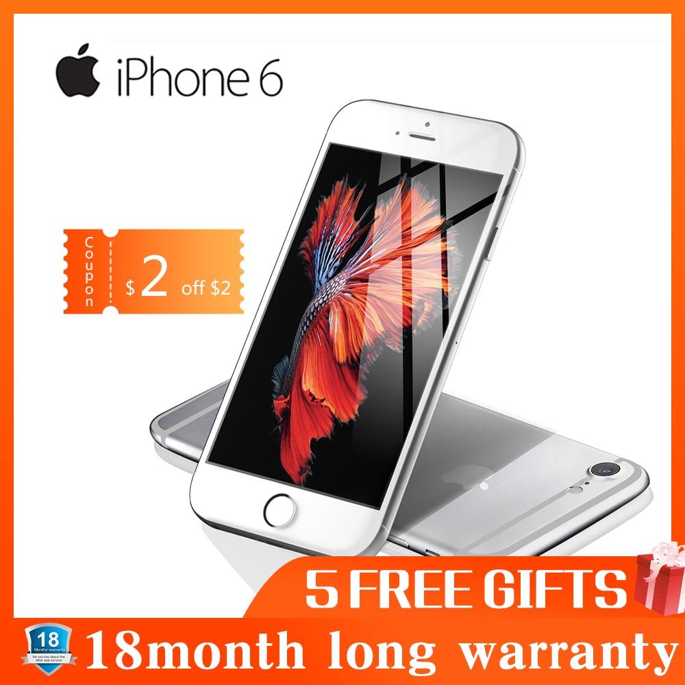 Used Phone Apple IPhone 6 Smartphone 1GB RAM 16GB ROM 12.0MP LTE Camera Fingerprint Unlocked 4.7 Inch Mobile Phone WIFI GPS 4G