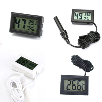 Mini Digital Humidity Meter Thermometer Hygrometer Sensor Gauge LCD Temperature Refrigerator Aquarium Monitoring Display Indoor 1