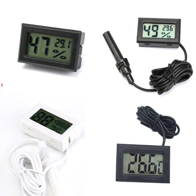 Mini Digital Humidity Meter Thermometer Hygrometer Sensor Gauge LCD Temperature Refrigerator Aquarium Monitoring Display Indoor 1