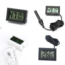 Mini cyfrowy miernik wilgotności termometr czujnik termo-higrometryczny miernik temperatury LCD lodówka monitorowanie akwarium wyświetlacz kryty