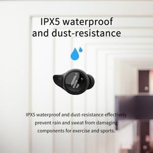 Image 5 - EDIFIER TWS6 наушники вкладыши TWS с беспроводной зарядки наушники устройство, док станция Qualcomm aptX Bluetooth V5.0 кран управления IPX5 Водонепроницаемый Беспроводные наушники с микрофоном, до 32hr