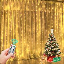 Garland Vorhang für Raum Neue Jahr der Hochzeit Weihnachten Lichter Dekorationen Vorhänge Für Home Girlande Led Licht Decor Fee Lichter cheap kankeirr CN (Herkunft) Nein CHRISTMAS Kunststoff Knopf-Zelle LED-Leuchten Kein FESTOON Knopfbatterie 300cm 1-5m WHITE Blau