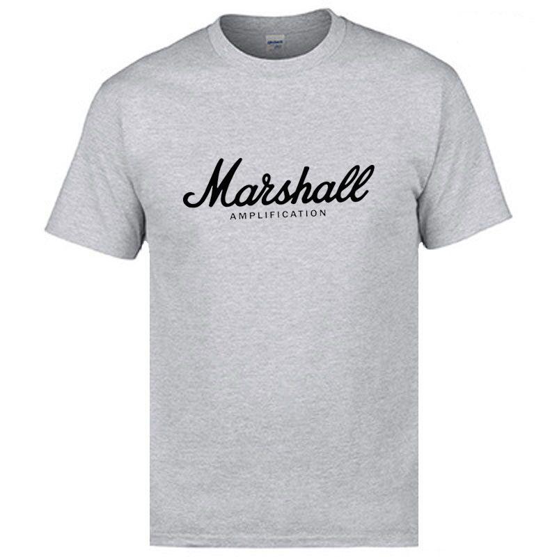 2019 New Summer 100% Cotton Brand Marshall T-shirt Men Short-sleeved T Shirt Street Dance Pocket Fashion T-shirt Harajuku Shirt