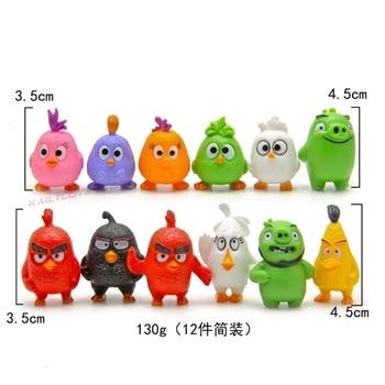 12Pcs Angry Bird anime figure Red The Blues Chuck Bomb Matilda Birds figurines mini model Action Toy Figures chuck berry chuck berry sings the blues