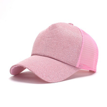 2019The New Baseball Cap Solid Color Men Baseball Golf Cap Snapback Hat Women Fashionable Breathable Ponytail Caps Unisex Gorras fashionable solid color double deck pu cabbie hat for men