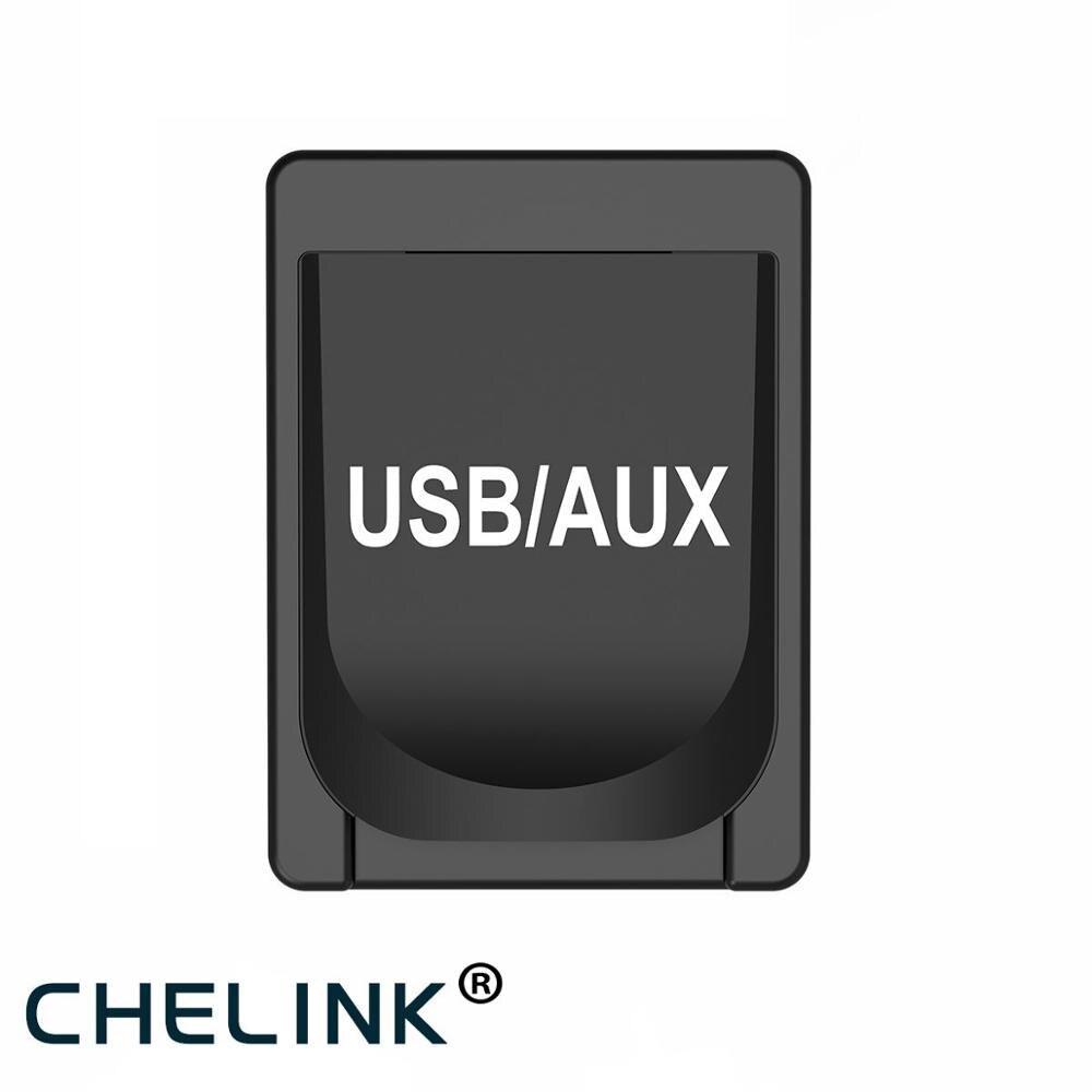 Galleria fotografica CHELINK 5V 2.1A AUX USB Caricabatteria Da Auto Con USB e Cavo Audio Jack Da 3.5mm Adattatore di Ricarica Per IPhone iPad <font><b>Samsung</b></font> Per TOYOTA