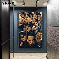 Bien rapero colección de pintura de la lona de Hip Hop Rap artista hombre pared imprimir imágenes artísticas habitación dormitorio Decoración