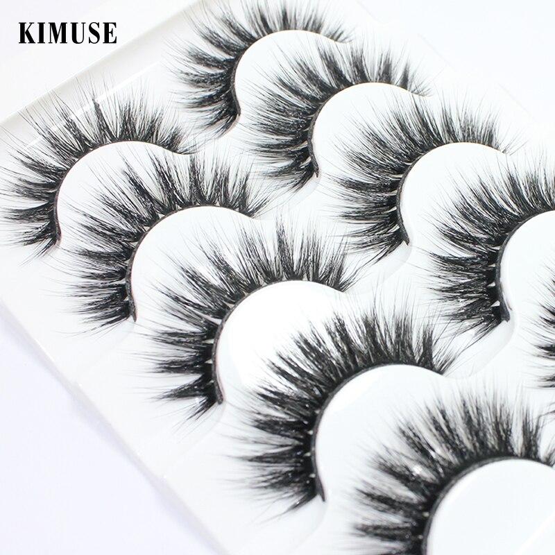 KIMUSE 16 Styles 5 Pairs Faux Mink False Eyelashes Handmade Natural Long Wispies Thick False Eyelash Extension Eye Makeup Tools(China)