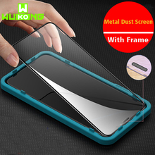 New 10X Stronger Anti-dust Tempered Glass For iPhone 11 Pro i11 Pro max Screen Protector For iPhone XS XR XS max With Frame