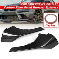 1Pair Real Carbon Fiber Front Bumper Body Skirts Kit Lip Splitters Perfomance Style Exterior Parts For BMW F87 M2 2016 2017