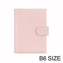 Motom capa de couro genuíno para stalogy b6 tamanho notebook capa diário planejador papelaria agenda organizador com bigpocket