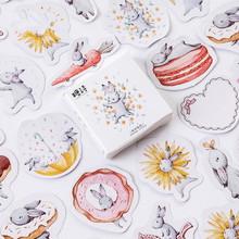 Mohamm Month hare Cute Diary Paper Mini Small Bullet Kawaii Decor Planner Stickers Scrapbooking Flakes Stationery