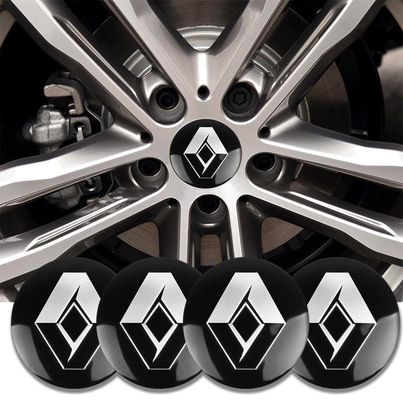 4 шт., 56 мм, автомобильные стильные колпачки для колес, колпачки для колес, крышки для Renault Megane Duster Logan Clio Laguna 2 Captur, аксессуары|Наклейки на автомобиль|   | АлиЭкспресс