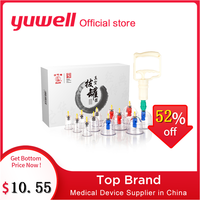 Yuwell Vacuum Cupping Set Body Liposuction Relax Massager Medical Device Vacuum Cupping Cups with Magnetic Acupuncture Needle