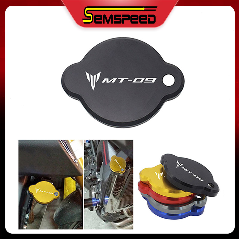 For Yamaha Mt09 Fz09 Mt 09 Fz 09 2014 2015 2016 Semspeed Cnc Motorcycle Radiator Cover Water Tank Cap Flash Sale 92de Cicig