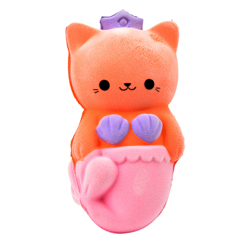 Squeeze Squishys Cute Furry Beauty Cat Slow Rising Toy Squishes Stress Relief Toy For Antistress Toys Gift Slime Toys L0116