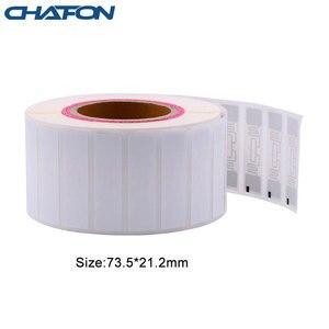 Image 3 - 50 Stuks 73.5*21.2Mm Rfid Gen2 Uhf Papier Tag Met U8 Chip Gebruikt Voor Warehouse Management