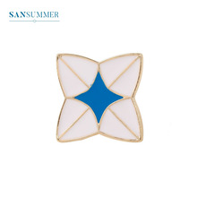 Sansummer New Hot Fashion Sporty Casual Top Selling Enamel Blue White GIrl Student backpack Brooch For Woman Jewelry